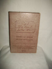 Vintage 1950s boxed set of How to Play Cards and Win