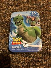 """TOY STORY BUZZ LIGHTYEAR 5"""" x 7"""" 50 pc Puzzle Collectible Tin Cardinal Brand B30"""