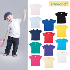 Larkwood Baby Short Sleeves T-shirt LW020 - Toddler Lightweight Crew Neck Top