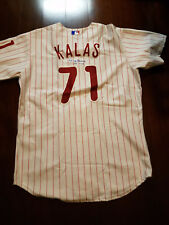 Harry Kalas (d. 2009) Philadelphia Phillies AUTOGRAPHED CUSTOM AUTHENTIC jersey!