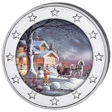 2 Euro Christmas - Country in Winter Colored Coin 2017