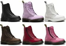 Dr Martens Ladies Pascal 1460 Aunt Sally Grizzly Leather Zip Leather Ankle Boots