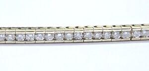 Fine Round Cut Diamond Yellow Gold Channel Set Tennis Bracelet 75-Stones 4.00Ct