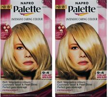 2 NAPRO INTENSIVE CARING PERMANENT HAIR COLOUR 9-4 EXTRA LIGHT BEIGE BLONDE NEW