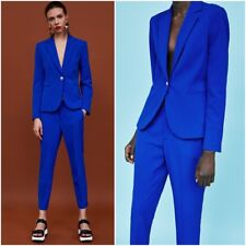 ZARA ELECTRIC BLUE BASIC BLAZER SIZE UK 14 EU 42 USA 10