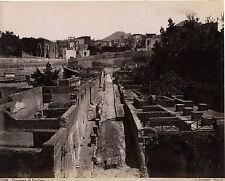 Italie Panorama di Ercolano Photo Sommer Napoli Albumine Vintage ca 1880