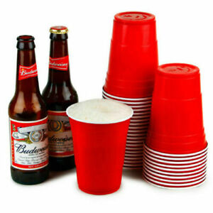 Red American Style Party Frat Beer Pong Disposable Cups 12oz(340ml) 16oz(454ml)