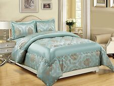 Duck Egg Throw Quilted Bedspread Comforter With Two Pillowcases SIZE 240X260cm