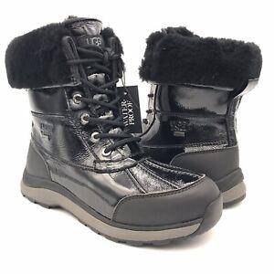 UGG  Adirondack III Patent Waterproof Leather Snow Boot 1098532 Black / Women