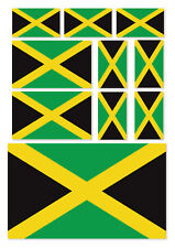 10 X JAMAICA FLAGS VINYL STICKERS FOR USE ON CAR, VAN, IPAD, LAPTOP, THE HOME