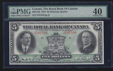 Canada 1927 $5 The Royal Bank of Canada Currency Montreal Pmg 40 (546)