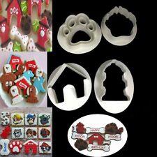 4pcs Pet Dog Paw House Cookie Cutter Mold Sugarcraft Pastry Fondant Cake Baking