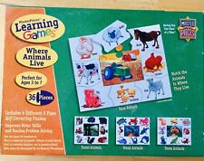 Masterpieces Learning 4 Different 9 Piece Puzzles Where Animals Live 36 Pieces