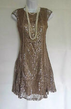 20'S 30'S GATSBY VINTAGE LACE CHARLESTON FLAPPER DRESS SIZES 8 10 12 14 16 18