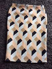 River Island Geometric Pattern Tube Skirt Sz 16