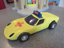 VINTAGE LAMBORGHINI PLASTIC AMBULANCE FRICTION CAR HONG KONG