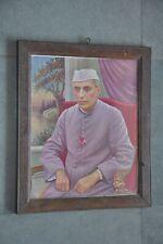 Vintage Wooden Framed Jawahar Lal Nehru Colorful Litho Print , Collectible