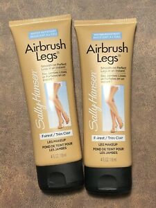 2 SALLY HANSEN AIRBRUSH LEGS MAKEUP LOTION  FAIREST Smooth On Perfection