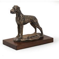 Deutsche Dogge, Holz Statuette, Bronze, ArtDog, CH