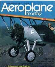Aeroplane Monthly Magazine 1975 Jan Fleet Air Arm,F7U Cutlass,Boeing 100,Hornet