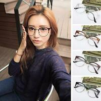 Women Men Nerd Retro Style Glasses Clear Lens Eyewear Round Metal Frame Glasses