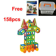 158 Magnet Building Blocks Sets Toy Educational Learning Small Size Box Manual