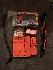 Official Nerf Bandolier Shoulder Strap, 5 Clips, 40 Darts, Box