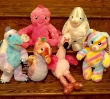 6 Build a Bear Babw Plush Lot Octopus Dolphin Seahorse Dinosaur Flamingo Bunny