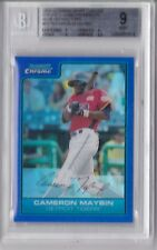 2006 Bowman Chrome Blue Refractor Camron Maybin Rookie Graded BGS 9