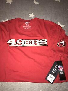 San Francisco 49ers 47 Brand Red Franklin Fieldhouse Logo SS T-shirt XXL