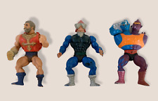 """Lot Of 3 Vintage He-Man Masters Of The Universe Mattel Action Figures 6"""" TOY"""