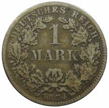 (E76) - Deutschland Germany - 1 Mark 1874 D - Reichsadler - F - KM# 7