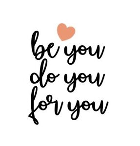Be You Do U For You Inspiration Vinyl Wall Decal Sticker Self Motivation Quote