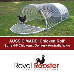Metal Chicken Coop / Aluminium Poultry House Hen Tractor - Royal Rooster