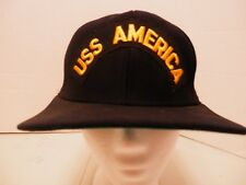 USS America Black Canvas Snapback Hat-New Era-Excellent Used Condition-Military