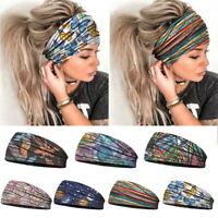 Frauen Elastic Wide Turban Stirnbänder Boho Fashion Haarband Sport Stirnbänder*