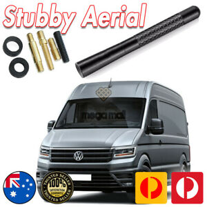Antenna / Aerial Stubby Bee Sting for Volkswagen Crafter + Black Carbon 12CM