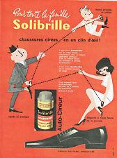 Publicité Advertising 018  1962  cirage chaussures solibrille Solitaire