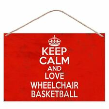 Keep Calm and Love sedia a rotelle Basket-Look Vintage in Metallo Grande Targa Insegna
