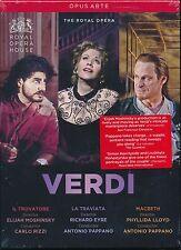 VERDI 3 Opera box set DVD Il Trovatore La Traviata Macbeth NEW Royal Opera