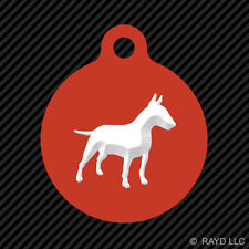 Bull Terrier Keychain Round with Tab dog engraved many colors dog canine pet