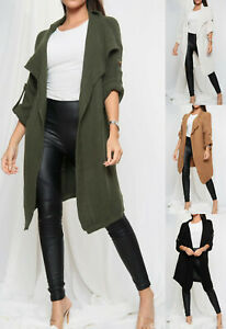 Womens Chunky Cable Knit Cardigan Ladies Open Front Long Sleeve Oversized Jacket