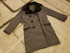 Dolce & Gabbana Black/Gray goat Jacket Trenchcoat EU 52