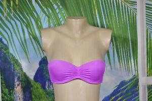 VICTORIA'S SECRET Hot Orchid Pink Strapless Boost Bikini Swim Top 34B Ruched