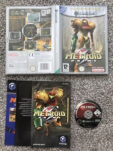 METROID PRIME NINTENDO GAMECUBE GAME WITH MANUAL OFFICIAL UK PAL