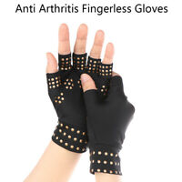 Guantes anti artritis médicos compresión guantes sin dedos de enfermería