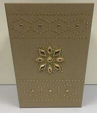 Luxury Gold Waste Paper Basket  Gem Jewelled Rubbish Bin Kitchen Office Bathroom