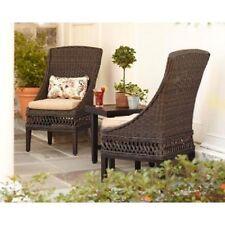 (2-Pack)Hampton Bay Woodbury Patio Dining Chair with Textured Sand Cushion