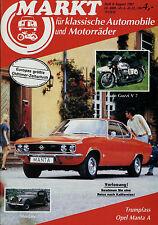 Markt 8/87 1987 Morgan Moto Guzzi V7 Opel Manta A TAS Terrot Renault R 15 R 17