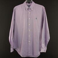 Mens Polo Ralph Lauren Classic Fit Oxford Golf Dress Shirt Size 16 34/35 Large